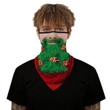 3D принт бандана шарф женщины мужчины рождество вечеринка лицо маска шарф открытый велоспорт повязка на голову верховая езда маски буфанда