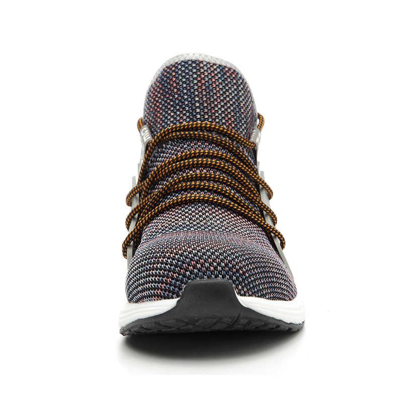 Mannen Mode Stalen Neus Anti Slip Ademend Beschermende Werk Schoenen Laarzen mannen Punctie Proof Veiligheid Schoenen
