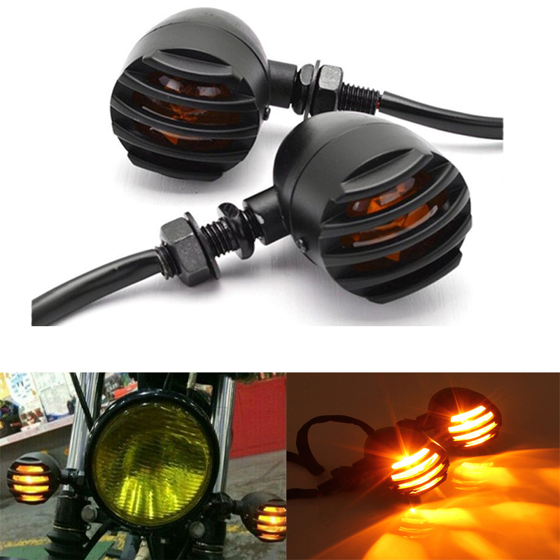 4 Pcs LED Motorcycle Turn Signals Blinker Indicator Lights For Suzuki Intruder Volusia VS 700 750 800 1400 1500