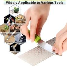 Diamond Sharpening Stone Knife sharpener 150*63mm Ultra-thin Honeycomb Surface Knife Whetstone Kitchen Grinding Tool