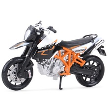 Bburago 1:18 KTM 990 Supermoto R Static Die Cast Vehicles Collectible Motorcycle Model Toys