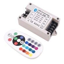 30A/42A RGB/RGBW Bluetooth Led controller 24Key IR Remote Big Power 360W BT Controller for RGBW/RGB Strip light DC12 24V