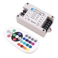 Контроллер светодиодных лент rgb/rgbw 30a/42a bluetooth 24 клавиши