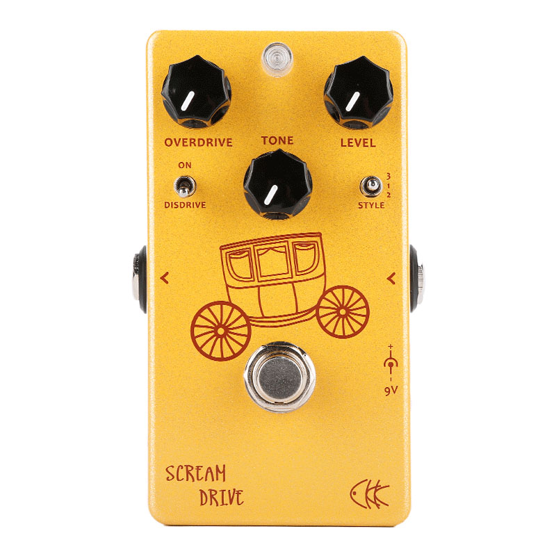 CKK Electronics Scream Drive Two Gain Stage Classic Overdrive Guitar Effect Pedal Guitar Parts Accessory Electric Guitar Effects