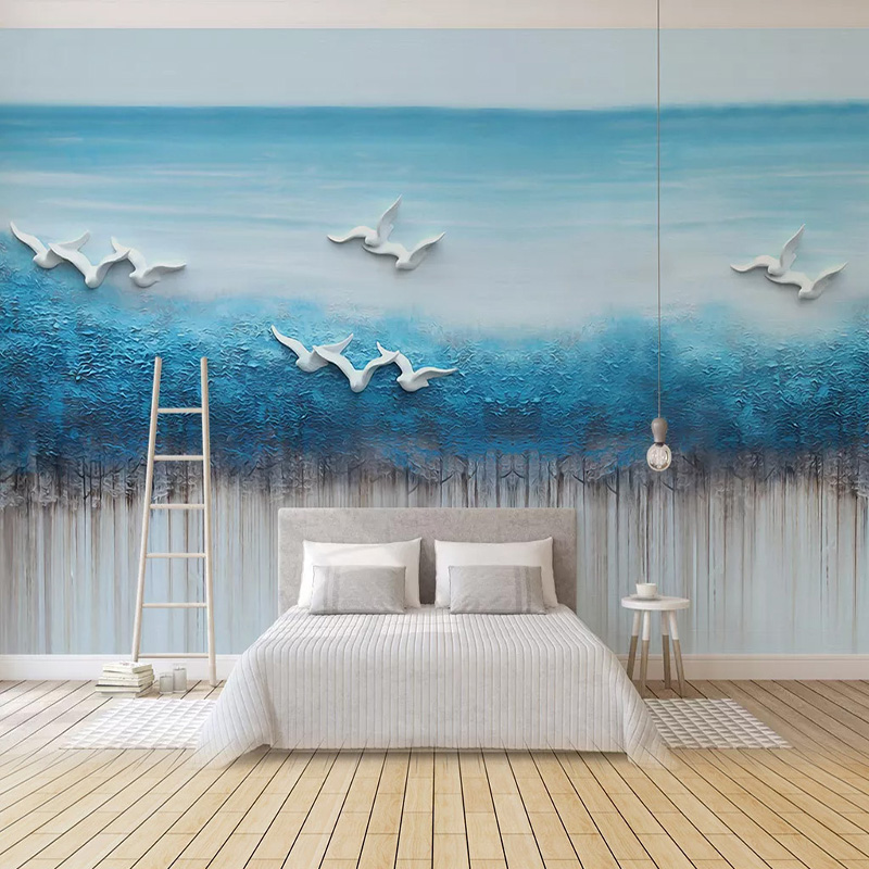 Custom Any Size Mural Wallpaper 3D Abstract Landscape Wall Painting Living Room Bedroom Home Decor Art Wall Papers For Walls 3 D