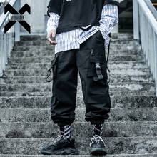 11 BYBB'S DARK Hip Hop Cargo Tactical Pants Men Streetwear Multi-pocket Loose Pant Male Harajuku Joggers Trousers Ribbon XN44