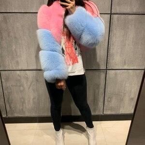 Image 1 - 毛皮本物のジャケット女性毛皮ショールフォックスジャケット