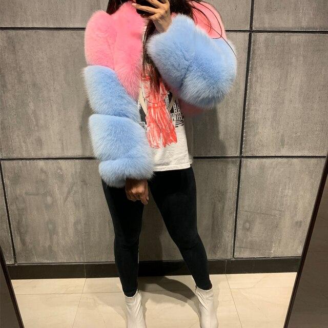 毛皮本物のジャケット女性毛皮ショールフォックスジャケット