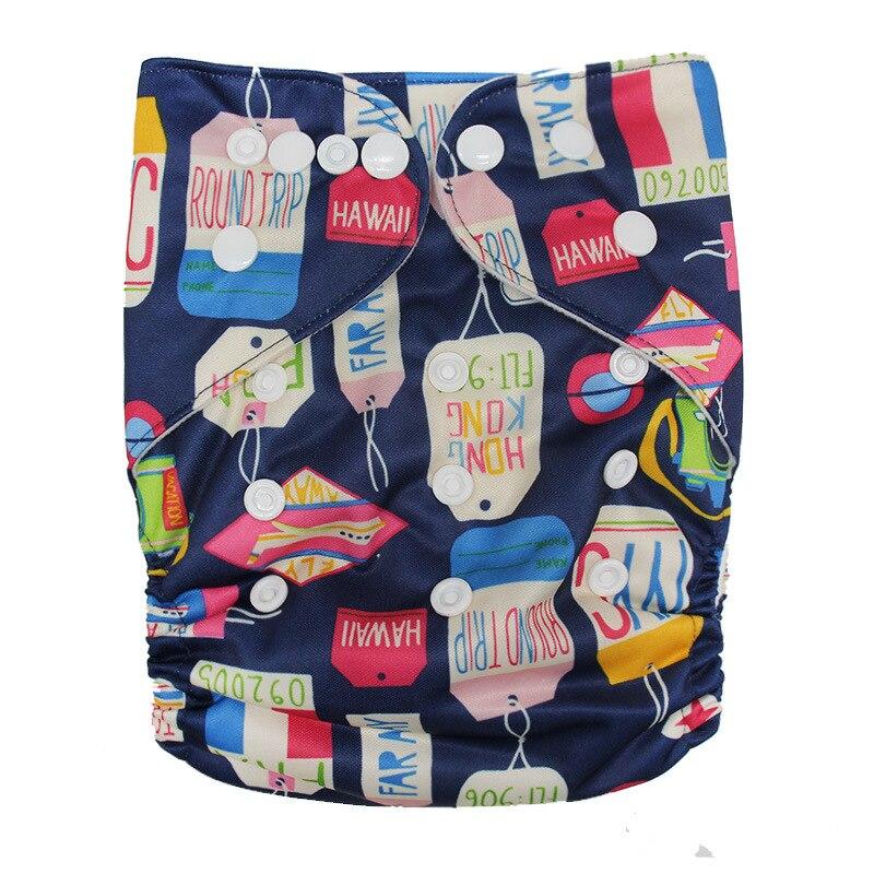 Детские моющиеся многоразовые подгузники из настоящей ткани с карманом, подгузники, чехлы для подгузников, костюмы для новорожденных и горшков, один размер, подгузники с героями мультфильмов - Цвет: Tag
