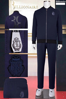 BILLIONAIRE Sportswear winter set men 2020 new Fashion zipper cotton embroidery Hooded Comfortable big size M-4XL free shipping