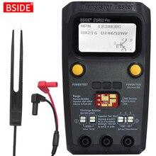 متعدد الأغراض الترانزستور ESR/مصلحة الارصاد الجوية تستر BSIDE ESR02pro الذكية صمام ثنائي ثلاثي المسار السعة المقاوم متر LCD متر MOS/PNP/NPN اختبار