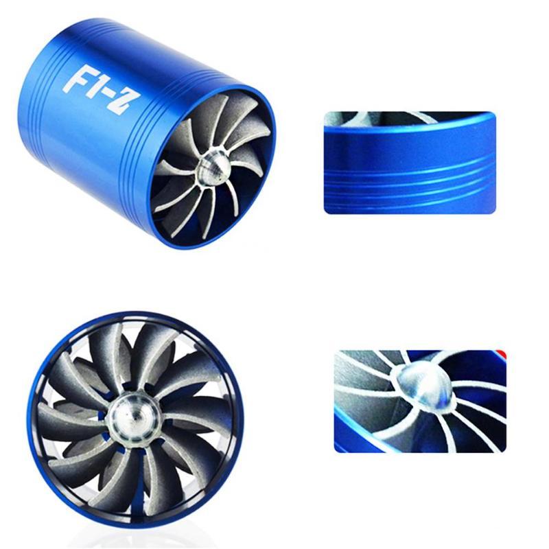 Auto Turbina di Aspirazione Aria Auto Refit Turbo Gas Olio Combustibile Saver Fan Turbo Supercharger Turbina Misura per Tubo di Aspirazione Dell'aria dia 65-74 millimetri