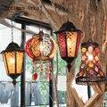 Американская сельская люстра tieyi Ресторан  Бар  кафе  Экзотический стиль  ретро люстра из цветного стекла