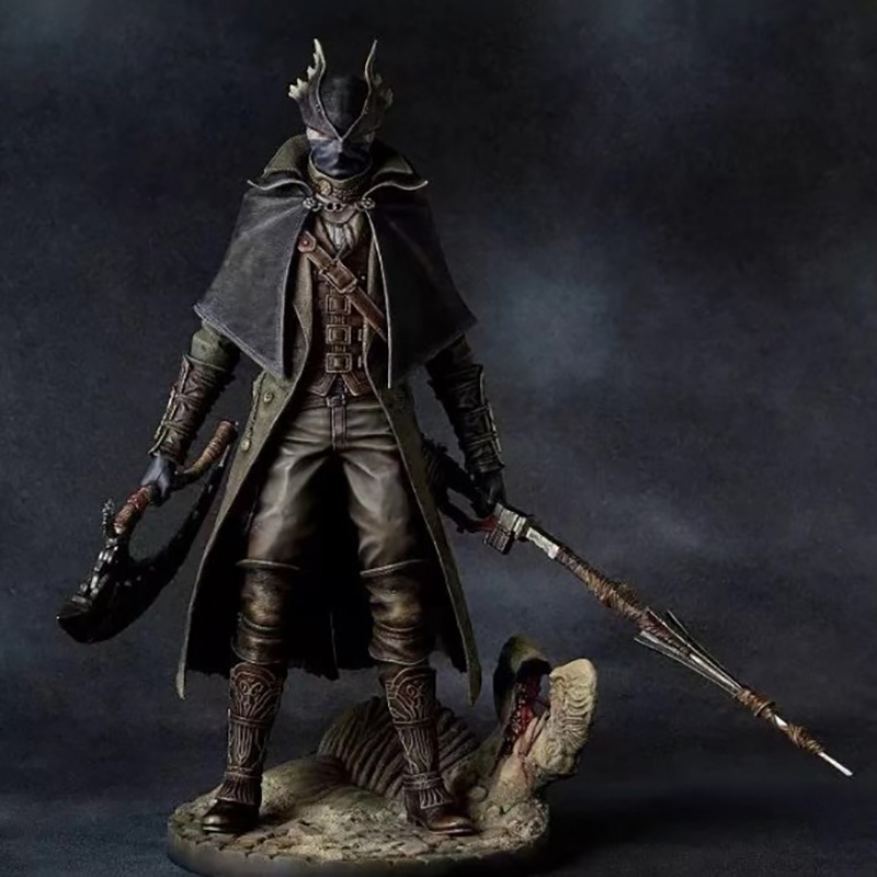 New Bloodborne Hunter Gecco 1//6 PVC Figure Statue Toy No Box 31cm