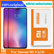Original 6.39 AMOLED LCD with frame for XIAOMI Mi 9 Mi9 Display Touch Screen Digitizer Assembly Repair Parts