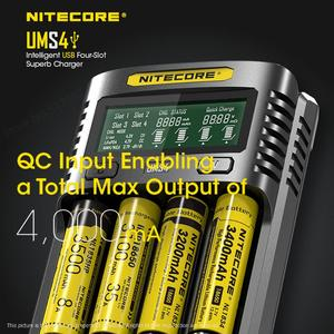 Image 5 - NITECORE UMS4 Intelligent Four   Slot QC Fast Charging 4A Large Current Multi   Compatible USB Charger