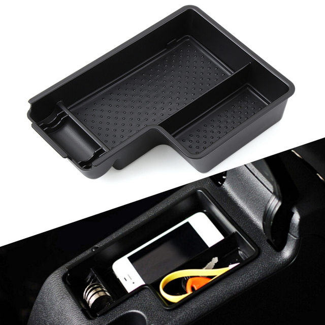 Newest Version Car Glove Box Armrest Box Secondary Storage For  Volkswagen VW MK6 Golf 6 GTI SCIROCCO car styling
