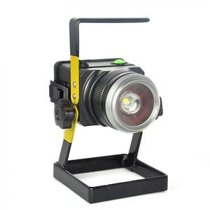 Image 4 - LED 투광 조명 원래 30W 1200 LM LED 홍수 램프 XM L T6 3 모드 캠핑/사냥에 대 한 충전식 LED 스포트 라이트 낚시 램프