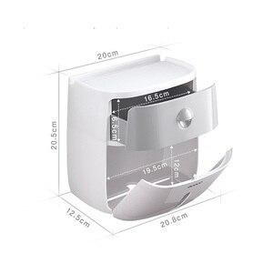 Image 5 - LEDFRE פלסטיק נייר טואלט רקמות מחזיק רחצה כפול קיר רכוב מדף אחסון Dispenser ארגונית אביזרי LF82003