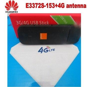 100pcs Unlocked Huawei e3372s-153 4G LTE USB Dongle USB Stick Datacard Mobile Broadband USB Modems 4G antenna 1