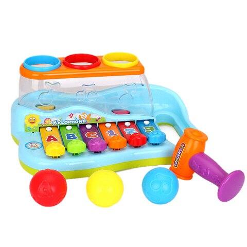 arco iris xilofone piano batendo banco para criancas com bolas e martelo bebes brinquedos de