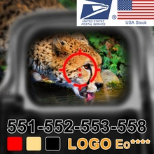 551 552 553 558 punto rojo verde mira holográfica caza punto rojo reflejo mira telescópica con 20mm montaje para pistola de Airsoft G