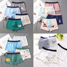 Underwear Shorts Girls Cotton Cartoon Hot-Sale 4pcs/Lot Soft Design Children