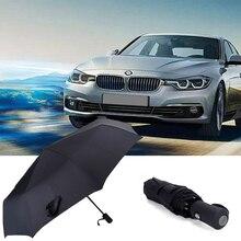 Auto Brand Logo Fashion Umbrella Folding Rain Parasol For BMW iX iX3 i3 i530 i760 X1 X2 X3 X5 X6 Car Automatic Business Umbrella