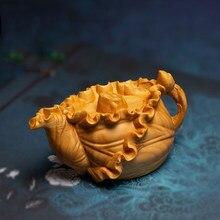 Casserole en feuille de Lotus pour adulte, petits objets, Pot artisanal Wenwan, pièce à main, thé créatif, décoration de la maison