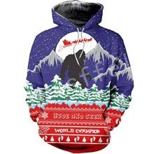 Tessffel Santa Claus Christmas MenWomen HipHop 3Dfull Printed Sweatshirts/Hoodie/shirts/Jacket Casual fit colorful funny Style16 snowflake printed and santa claus pullover hoodie