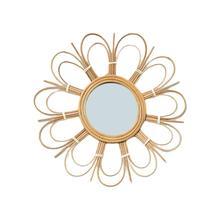 Dressing Mirror Literary Retro Rattan Art Decor Round Makeup For Living Room Wall Kitchen Bathroom Decoration New