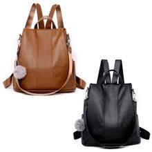 Women Backpack Purse PU Leather Antitheft Casual Satchel Shoulder Bag for Girls