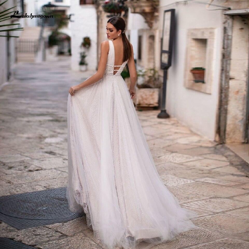 Abiti Da Sposa On Line.Lakshmigown Chic V Neck Wedding Dress A Line 2020 Abiti Da Sposa