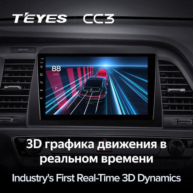 TEYES CC3 Штатная магнитола For Хендай Соната LF рестайлинг ForHyundai Sonata 7 LF 2017 - 2019 до 8-ЯДЕР, до 6 + 128ГБ 27EQ + DSP carplay автомагнитола 2 DIN DVD android 10 мультимедиа автомобиля головное устройство 5