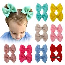 Kids Hair Clip 2Pcs Set Black Yellow Solid Color Bow Barrettes Girl Baby Ribbon Hairpins 2020 Hot Sale Solid Hair Accessories cheap KAIGOTOQIGO CN(Origin) Adult WOMEN Alloy Cotton Fashion