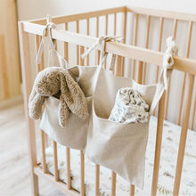 1Pcs Cotton Baby Crib Hanging Storage Bag Baby Cot Bed Brand baby Bed Organizer Toy Diaper Pocket for Bedding 20May26(China)