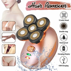 Woman Electric Shaver Body Hair Remover 5D Head Razor Men Shaver Razor Body Hair Removal Beard Trimmer USB Rechargeable Epilator