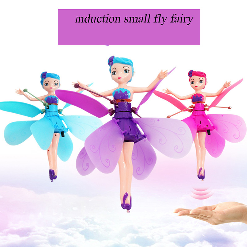 2019 Flying Angel Dolls Princess Induction Control Flying Dolls Remote Control Flying Toys For Children Girl Creative Gift Drone