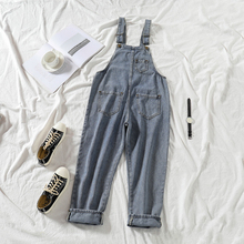 цены New Fashion Sleeveless Denim Jeans for Women jumpsuit  Romper Overalls Playsuits Straps Romper Straight Trousers