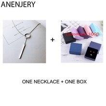 ANENJERY Danity 925 collar de mariposa de plata de ley para mujer borla gargantilla de circonio collares amigo regalo S-N475