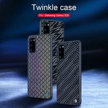 Voor Samsung Galaxy S20 / S20 + Plus Case Nillkin Twinkle Reflecterende Glow Pc Hard Case Voor Samsung S20 Ultra 5G Twinkling Cover