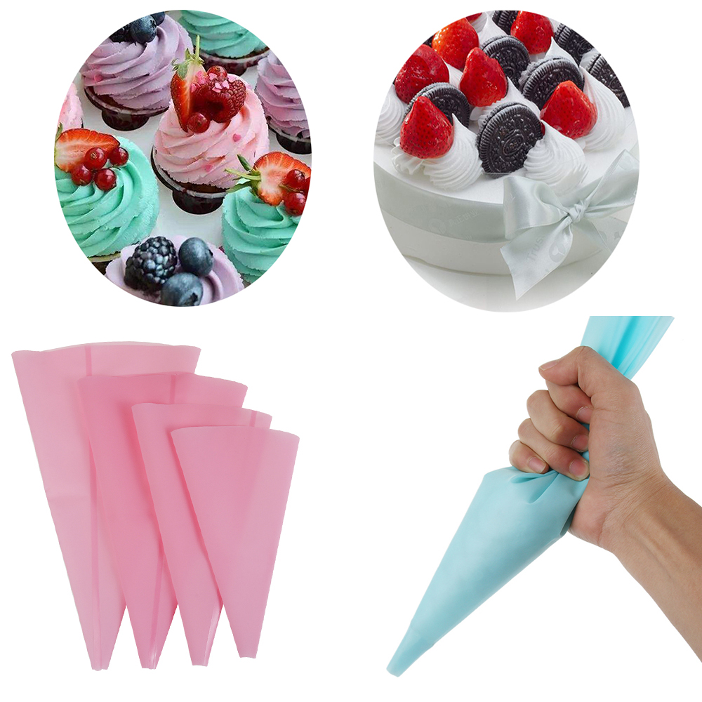 Sugarcraft Decor Cream Pastry Bag Icing Piping Bags Cake Decorative Silicone