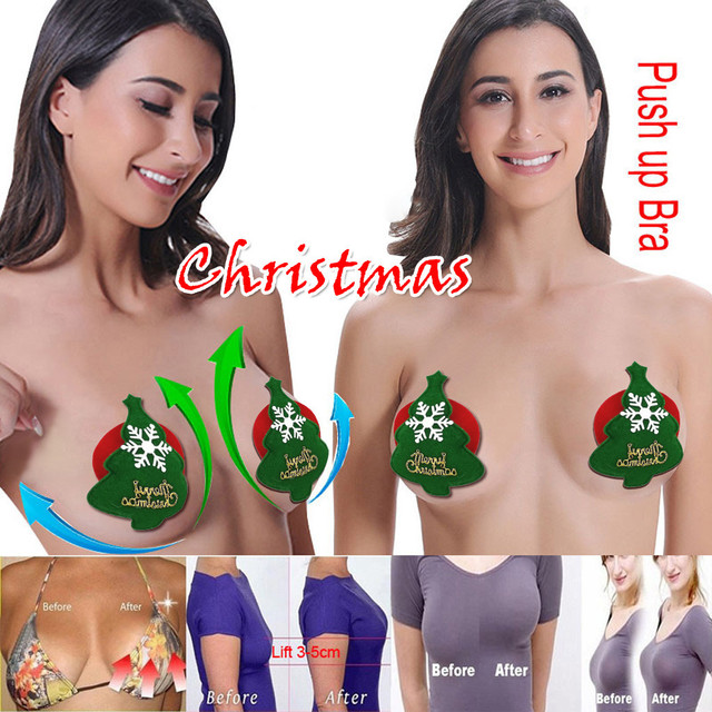 Best Selling 2019 Products Christmas Sex Invisible Silicone Bra Breast Boob Lift Tape Adhesive Nipple Cover Drop Shipping