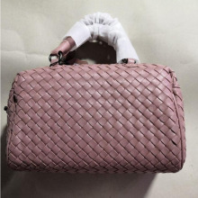 Women Handbag Genuine Lambskin Leather Knitted Soft Top Qual