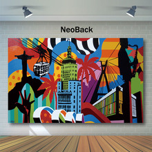 Artistic Abstraction Photography Backdrops For Photo Studio City Building Tropical Backdrop Music Art Party Background
