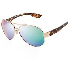 Loreto polarizado óculos de sol dos homens do vintage piloto óculos de sol para homem masculino esporte uv400 square eyewear