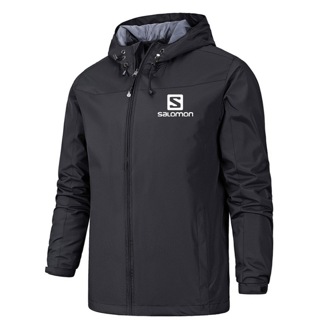 New Spring Jacket Men Hooded Zipper Waterproof Coat Windproof Solid Color Fashion Male Coat Outdoor Sportswear Bomber Coats 5XL 4