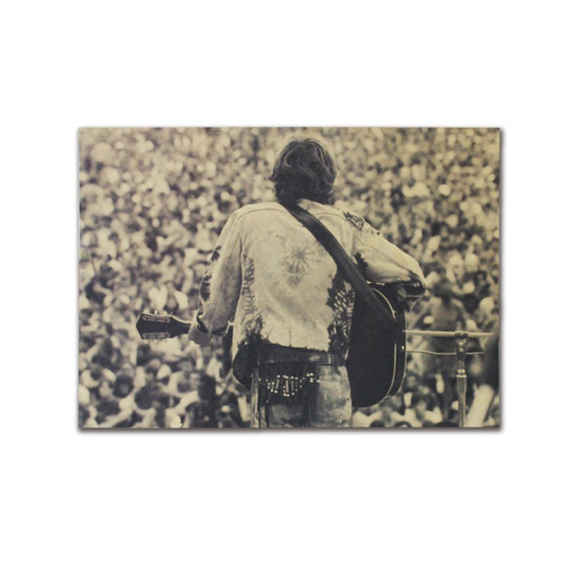Woodstock Rock Festival Decor Vintage Kraft Paper Classic Movie Poster Map School Wall Office Decoration Art Retro Prints