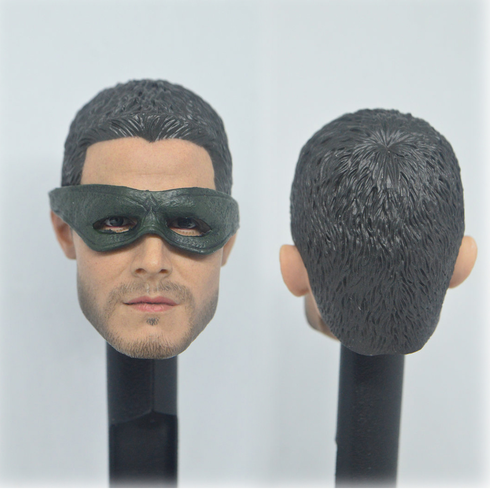 """Stephen Amell 1//6 Head Carving Sculpt Figure Model Male Arrow for 12/"""" Action Toy"""