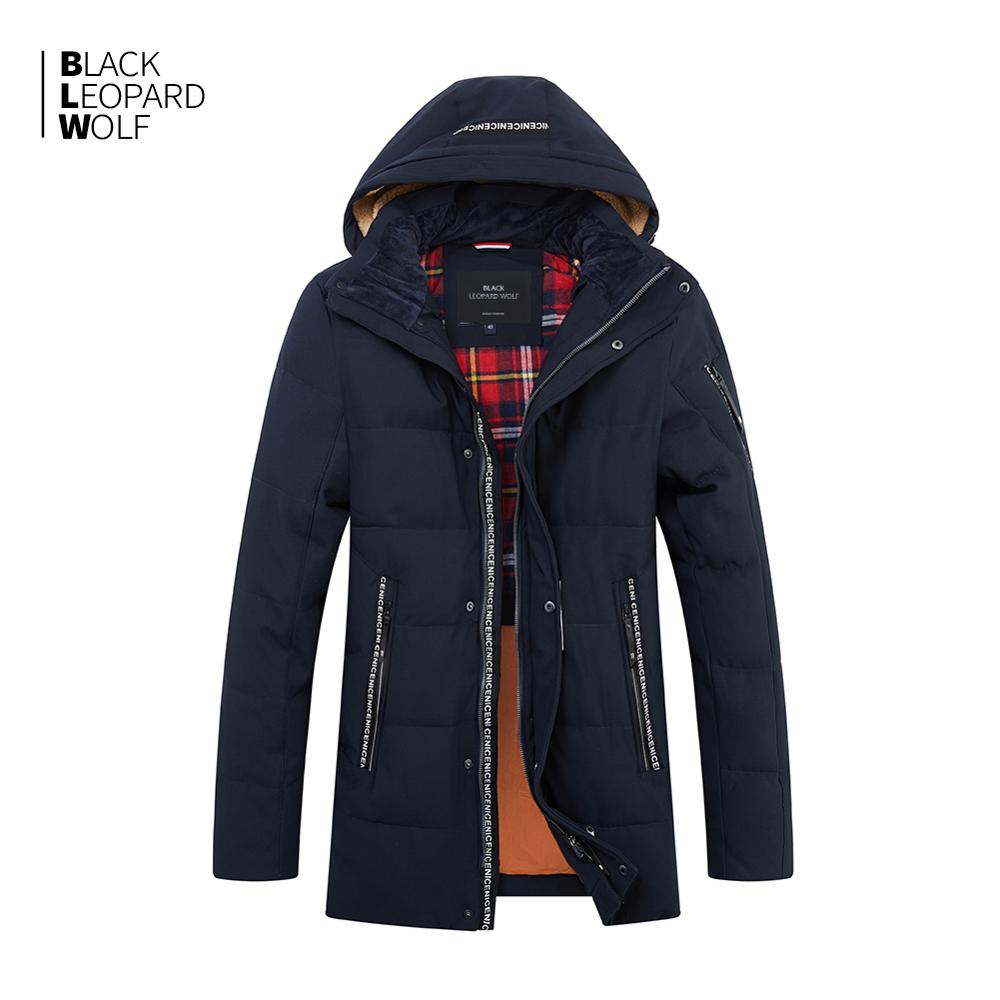 Blackleopardwolf 2019 New Arrival Winter Jacket Men Thick Cotton High Quality With Hood Down Jacket For Winter With Zip ZD-B325